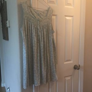 Croft and Barrow cotton blend nightgown L